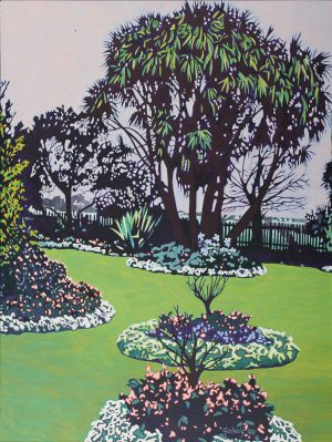 Bangalow Backyard - Landscape artwork painted by Solveig