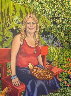 Jeannette-Martin - Portrait - Flower wall art