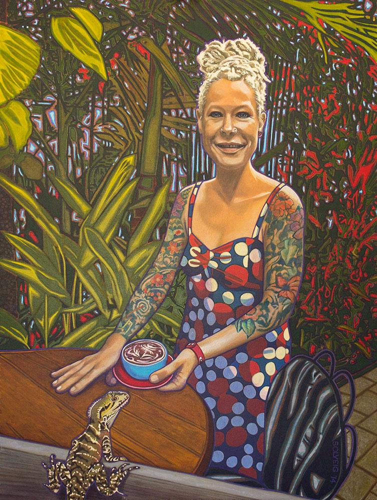 Kristina Petersen – Illustrated Woman – Original Portrait