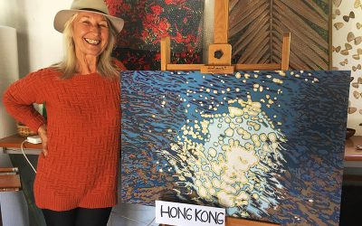 Solveig prepares for Hong Kong art show